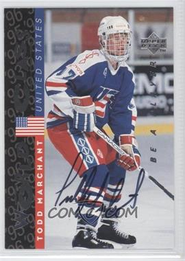 1995-96 Upper Deck Be a Player Autographs [Autographed] #S190 - Todd Marchant