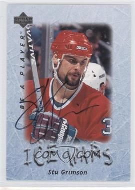 1995-96 Upper Deck Be a Player Autographs [Autographed] #S224 - Stu Grimson