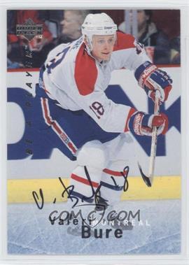 1995-96 Upper Deck Be a Player Autographs [Autographed] #S34 - Valeri Bure