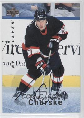1995-96 Upper Deck Be a Player Autographs [Autographed] #S43 - Tom Chorske