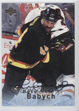 1995-96 Upper Deck Be a Player Autographs [Autographed] #S94 - Dave Babych