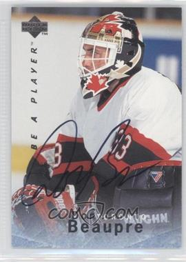 1995-96 Upper Deck Be a Player Autographs [Autographed] #S96 - Don Beaupre