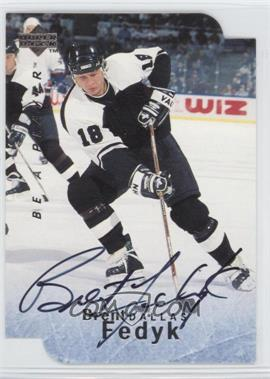 1995-96 Upper Deck Be a Player Die-Cut Autographs [Autographed] #S100 - Brent Fedyk