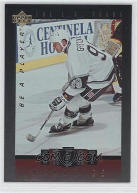 1995-96 Upper Deck Be a Player Great Memories #GM01 - Wayne Gretzky