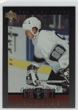 1995-96 Upper Deck Be a Player Great Memories #GM07 - Wayne Gretzky