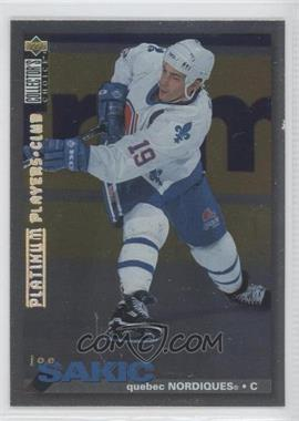 1995-96 Upper Deck Collector's Choice - [Base] - Platinum Player's Club #288 - Joe Sakic