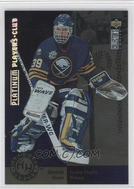 1995-96 Upper Deck Collector's Choice - [Base] - Platinum Player's Club #394 - Dominik Hasek