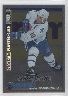 1995-96 Upper Deck Collector's Choice Platinum Player's Club #288 - Joe Sakic