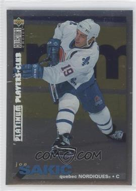 1995-96 Upper Deck Collector's Choice Platinum Player's Club #288 - Joe Sakic