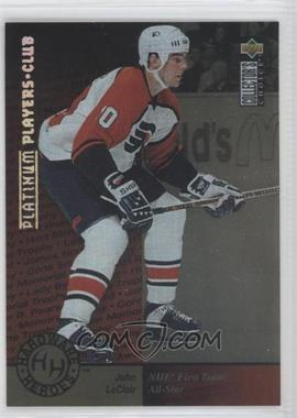 1995-96 Upper Deck Collector's Choice Platinum Player's Club #376 - John LeClair