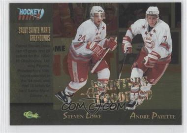 1995 Classic Draft Gold Printers Proof #95 - Steven Lowe, Andre Payette /249