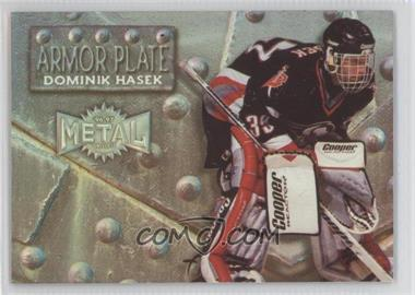 1996-97 Fleer Metal Armor Plate Parallel #4 - Dominik Hasek