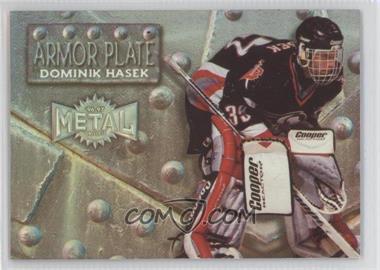 1996-97 Fleer Metal Armor Plate #4 - Dominik Hasek