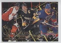 Eric Lindros, Mario Lemieux, Wayne Gretzky