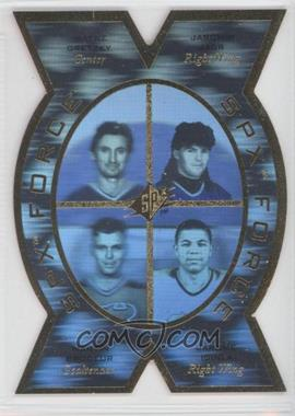 1996-97 SPx - SPx Force #SPX5 - Wayne Gretzky, Jaromir Jagr, Martin Brodeur, Jarome Iginla