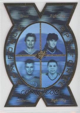 1996-97 SPx SPx Force #SPX5 - Wayne Gretzky, Jaromir Jagr, Martin Brodeur, Jarome Iginla