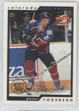 1996-97 Score Artist's Proof #99 - Peter Forsberg