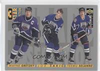 Wayne Gretzky, Joe Sakic, Teemu Selanne