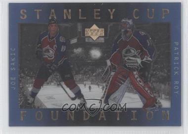 1996-97 Upper Deck Ice - Stanley Cup Foundations #S5 - Joe Sakic, Patrick Roy