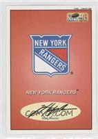 New York Rangers Logo/Checklist (Mark Messier)