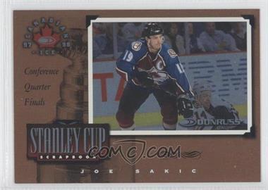 1997-98 Donruss Canadian Ice - Stanley Cup Scrapbook #3 - Joe Sakic /2000