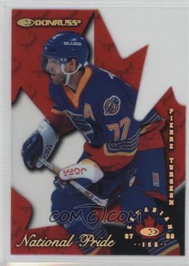 1997-98 Donruss Canadian Ice National Pride Die-Cut #24 - Pierre Turgeon /1997