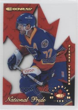 1997-98 Donruss Canadian Ice National Pride Die-Cut #24 - Pierre Turgeon /1997