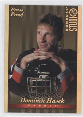 1997-98 Donruss Studio Gold Press Proof #2 - Dominik Hasek /250