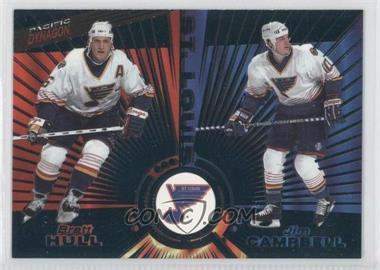 1997-98 Pacific Dynagon Emerald #143 - Brett Hull, Jim Campbell