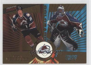 1997-98 Pacific Dynagon Gold #138 - Peter Forsberg, Patrick Roy