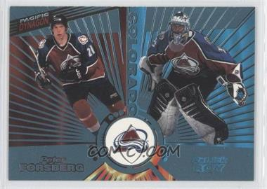 1997-98 Pacific Dynagon Ice Blue #138 - Peter Forsberg, Patrick Roy