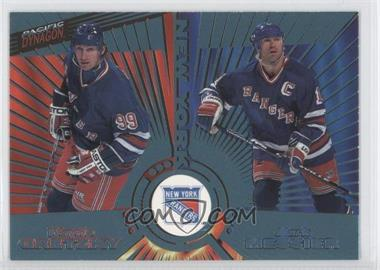 1997-98 Pacific Dynagon Ice Blue #140 - Wayne Gretzky, Mark Messier