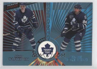 1997-98 Pacific Dynagon Ice Blue #144 - Mats Sundin, Sergei Berezin