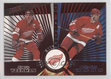 1997-98 Pacific Dynagon Red #139 - Steve Yzerman, Brendan Shanahan