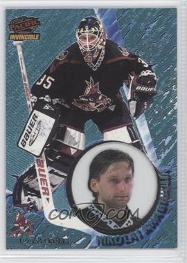 1997-98 Pacific Invincible - [Base] - Ice Blue #107 - Nikolai Khabibulin