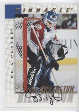 1997-98 Pinnacle Be A Player Autographs [Autographed] #138 - Craig Billington