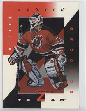 1997-98 Pinnacle Zenith Z-Team 5x7 #8 - Martin Brodeur