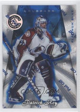 1997-98 Totally Certified Platinum Blue #2 - Patrick Roy /2599