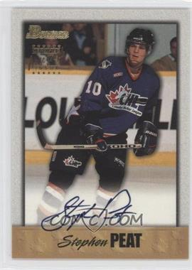 1998-99 Bowman CHL Autographs Gold #A4 - Stephen Peat