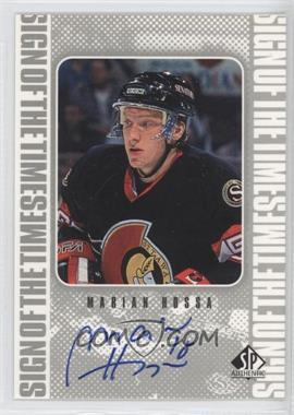 1998-99 SP Authentic Sign of the Times [Autographed] #MH - Marian Hossa