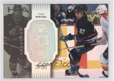 1998-99 SPx Finite Spectrum #85 - Todd Bertuzzi /300