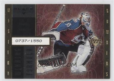 1998-99 Upper Deck Black Diamond - Winning Formula - Gold #WF6 - Patrick Roy /1550
