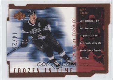 1998-99 Upper Deck Frozen in Time Die-Cut Quantum Level 2 #FT7 - Rob Blake /25