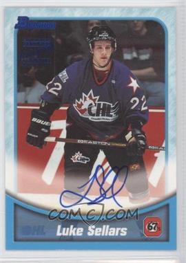 1999-00 Bowman CHL - Autographs #BA13 - Luke Sellars