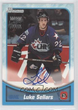 1999-00 Bowman CHL Autographs #BA13 - Luke Sellars