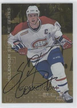 1999-00 In the Game Be A Player Millennium Signature Series - [Base] - Gold Autograph [Autographed] #128 - Saku Koivu