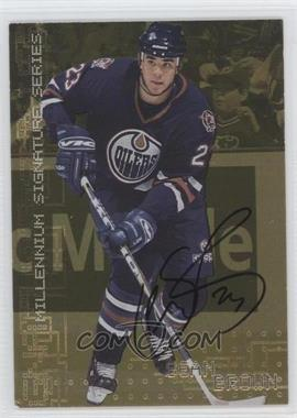 1999-00 In the Game Be A Player Millennium Signature Series Gold Autograph [Autographed] #101 - Sean Brown