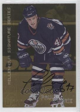 1999-00 In the Game Be A Player Millennium Signature Series Gold Autograph [Autographed] #105 - Paul Comrie