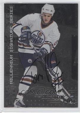 1999-00 In the Game Millennium Signature Series Autograph [Autographed] #98 - Tom Poti