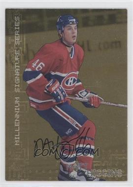 1999-00 In the Game Millennium Signature Series Gold Autograph [Autographed] #131 - Matt Higgins